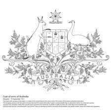 Click To See Printable Version Of Australian Coat Arms Coloring Page