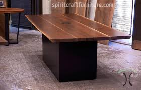 Live Edge Dining Table And Bench In Solid Book Matched Black Walnut Slabs