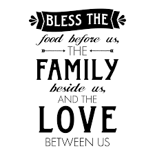 Whimsy Bless Food Family Love Wall QuotesTM Decal