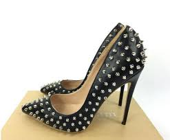 Fashion New Luxury Brand Red Bottom High Heels Rivets Womens Shoes