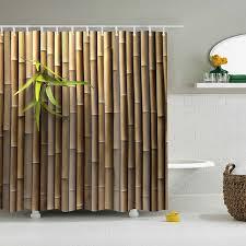 drop verschiffen tür bambus bad vorhang wasserdichte stoff polyester hohe qualität 3d lang badezimmer dusche vorhang kinder