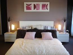 Comfortable Bedroom With Light Purple Wall