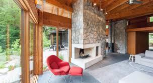 100 Muskoka Architects Cottage Christopher Simmonds Architect Raum_Wohnzimmer