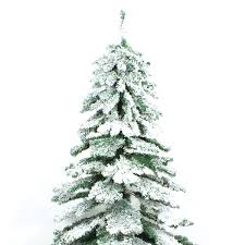 7 Ft Slim Snowy Christmas Tree by Snow Christmas Trees Artificial Christmas Lights Decoration