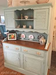 I Took An Old Early American Style Hutch From The 60s And Turned It Into This Cottage Charmer
