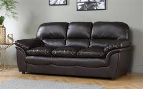 Rochester Dark Brown Leather 3 Seater Sofa ly £399 99