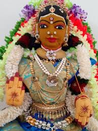 Varalakshmi Vratham Decoration Ideas by Varalakshmi Vratham Goddess Saree Draping And Decoration Youtube