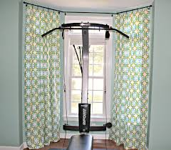 Blockaide Double Curtain Rod by Bay Window Curtain Rod Treatments Choose A Bay Window Curtain