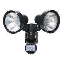twin spot pir security light