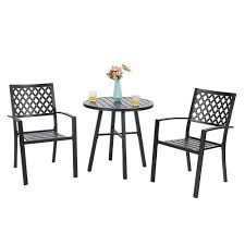 Shop For PHI VILLA Outdoor Patio Metal 3 Piece Bistro Furniture Set ... Pub Tables Bistro Sets Table Asuntpublicos Tall Patio Chairs Swivel Strathmere Allure Bar Height Set Balcony Fniture Chair For Sale Outdoor Garden Mainstays Wentworth 3 Piece High Seats Www Alcott Hill Zaina With Cushions Reviews Wayfair Shop Berry Pointe Black Alinum And Fabric Free Home Depot Clearance Sand 4 Seasons Valentine Back At John Belden Park 3pc Walmartcom