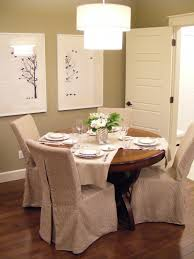 Skirted Parsons Chair Slipcovers by Dining Room Skirted Brown Fabric Dining Room Chair Slipcover With