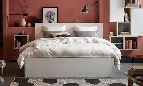 ikea malm bett 180x200 weis mit matratze und lattenrost