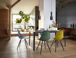eames plastic side chair dsw stuhl vitra ahorn dunkel kieselstein