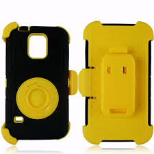 SAMSUNG GALAXY S5 HEAVY DUTY BLACK AND YELLOW WITH BUILT IN SCREEN PROTECTOR