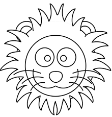 Click To See Printable Version Of Cartoon Lion Head Coloring Page
