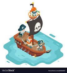 100 Design A Pirate Ship Isometric Pirate Ship Crew Buccaneer Filibuster