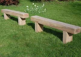 a lovely set of benches made from sleepers that will look great in
