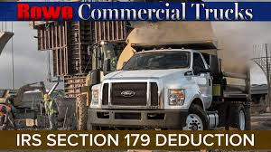100 Rowe Truck Equipment IRS Section 179 Deduction Information Ford Auburn