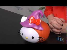Pumpkin Push Ins by Hello Kitty Pumpkin Push Ins From Gemmy Industries Youtube