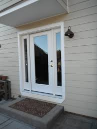 Therma Tru Entry Doors by New Therma Tru Fiberglass Entry Doors Are Installed