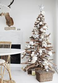 Christmas Decorations Of Scandinavian Style Rustic Tree Fireplace Accessories