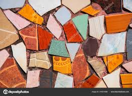 colorful ceramic mosaic floor creative recycled mosaic top view photo bathroom or kitchen floor design idea 310514368