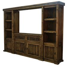 Rustic Finca Western TV Wall Unit Stand Entertainment Center
