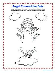 Angel Connect The Dots Coloring Page
