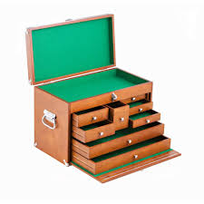 Tool Box Dresser Diy by Trinity 21 In 8 Drawer Wood Tool Box Brown Twm 3501 The Home Depot