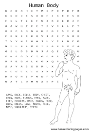 Full Image For Body Parts Coloring Pictures Pages Printables Human Word Search