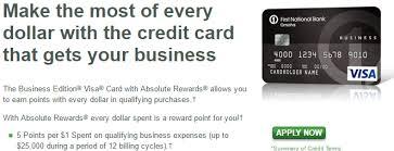 First National Bank Absolute Rewards 5x Points Huge Range