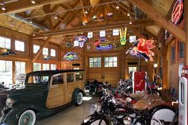 Aberdeen Creek Interior Of Garage For Classic Car Motorcycle And Memorabilia Collection