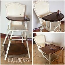 Refinished Antique Old Wooden High Chair By Barn Chic ...