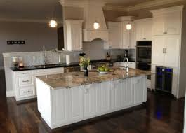 Off White Cabinets With Black Appliances Granite Color