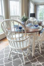 Windsor Dining Chairs Don't Have To Take Forever To Paint Teton Hand Planed Trestle Ding Set Amish Oak Farmhouse Table And Chairs Painted In Annie Sloan Old White Paint White Chair Cushions Room Ideas Painted Room Chairs A Pumpkin Centerpiece Wooden Centre Of Country Style Amazoncom Poundex F2210 F1276 Glass Leatherette 53 Tables Table Laura Ashley Duck Egg Blue Top Needs Boulez With 6 7 Piece Oval Chalk Pure Traditional Regency Style 8 Eclectic For Cohesive Look Hgtv