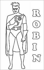 Printable Coloring Pages Robin Hood Free Batman And