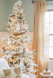 Snow Flocked Slim Christmas Tree by Stunning Christmas Tree Decorating Ideas Holidappy