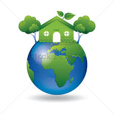 100 House Earth Green Earth With Go Green House And Tree Vector Image 1420275