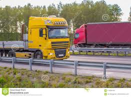 100 Directions For Trucks Heavy Move Along Rural Road Stock Photo Image Of Cargo
