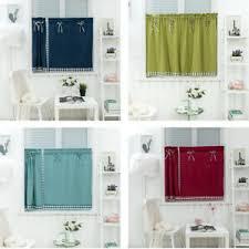 kurze vorhänge aus polyester baumwolle für die küche