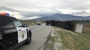 100 Simi Truck Semi Truck Rollover Power Lines Down Reported On Highway 58