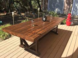 Wooden Outside Table How To Build A Outdoor Dining Building An With