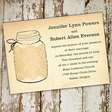 Printable Lace Mason Jars Fall Wedding Invitations EWI243