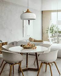 tomons pendelleuchte holzimitat rustikal mit ummantelten netzkabel e27 max 60w glühbirne oder 12w led le für esszimmer wohnzimmer
