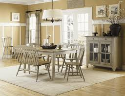 Dining Table With Bench Back 8x10 Area Rugs Wall Sconces Candle Holder Buffet Server Furniture Modern Chandelier Lighting Shear Curtains