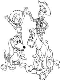 Toy Story Woody And Jessie With Friends Coloring For Kids