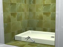 shower tile floor pan tile shower floor vs fiberglass pan soloapp me
