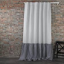 Pink Ruffle Curtains Uk by Buy Our Ruffles Linen Window Curtain At Linenshed Uk U2013 Linensheduk