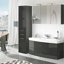 badezimmer waschplatz set in hochglanz grau 120cm