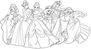 Princess Coloring Pages To Print Surging Free Printable For Disney Christmas